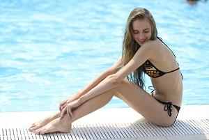 水着のモデル写真