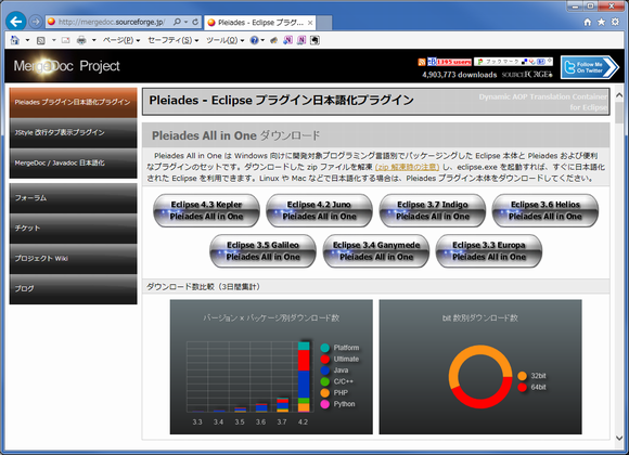 Pleiadesプラグインダウンロードサイト