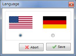 言語選択ダイアログ