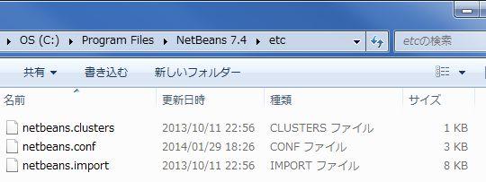 netbeans.confがあるフォルダ