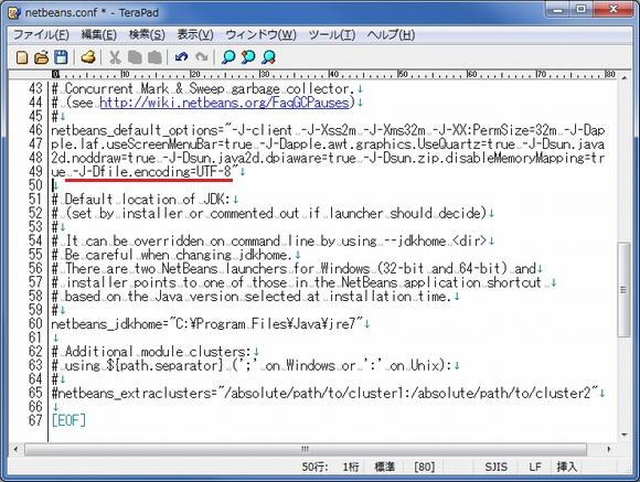 netbeans.confにパラメータを追加