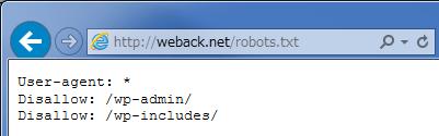 robots.txtをブラウザでアクセスした画面