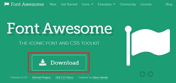 Font Awesome ダウンロードページ