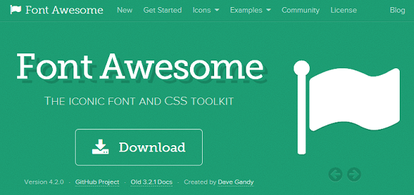 Font Awesome サイト画面