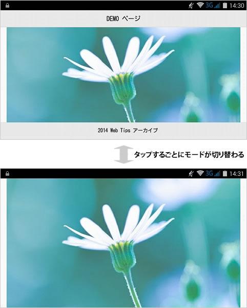 フルスクリーンモードの説明図